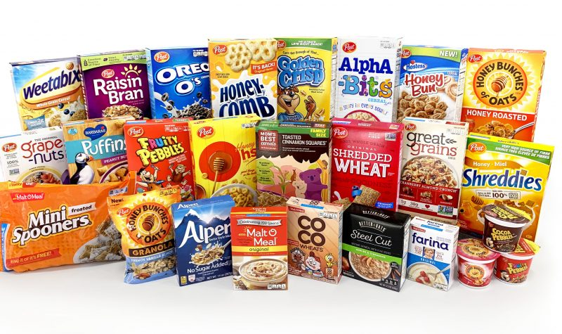 Group of cereals made by Post Consumer Brands